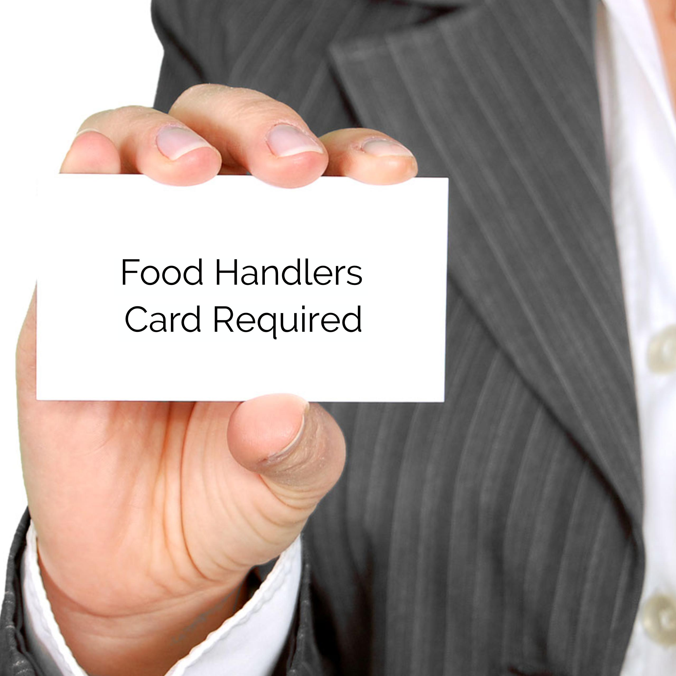 Food Handlers Card Required For Festival Food Booths