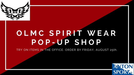 OLMC SPIRIT WEARPOP UP SHOP