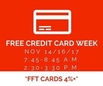 Free credit card week