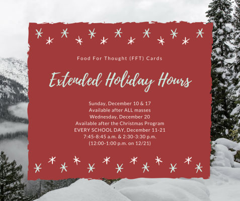 FFT Holiday Hours