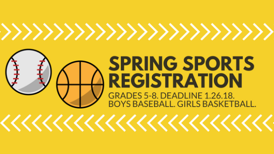 Spring SportsRegistration