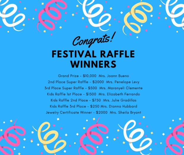 Festival Raffle Winners