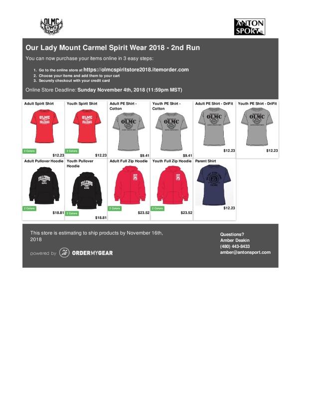 OLMC Spirit Wear Online