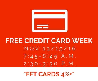 Free credit card week 18