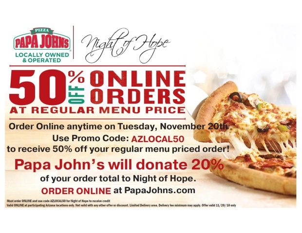 Papa Johns Night of Hope