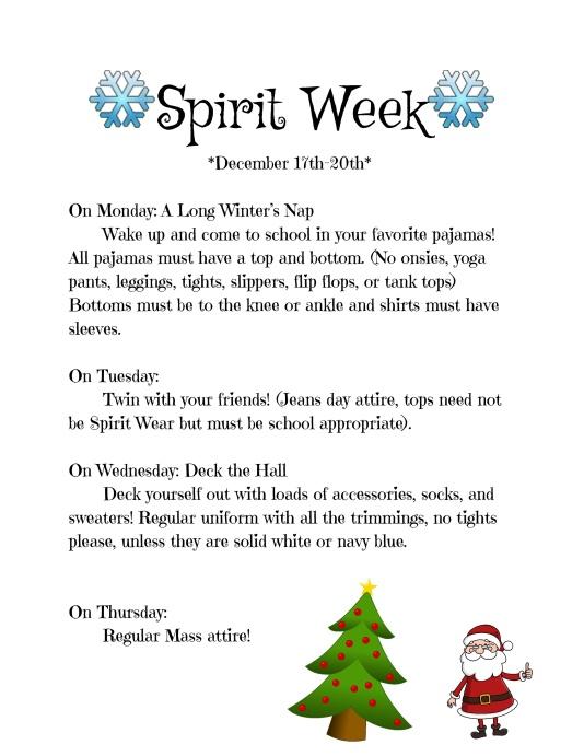 Winter Spirit Week 18