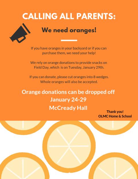 orange donations